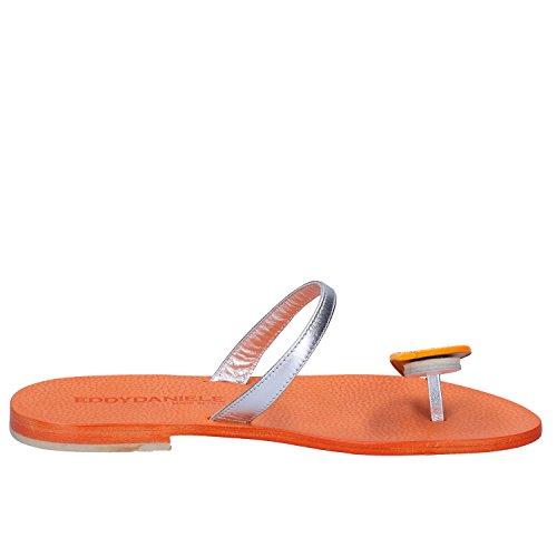 Daniele Cuir Eddy Femme Orange Sandales 8dqrqRK