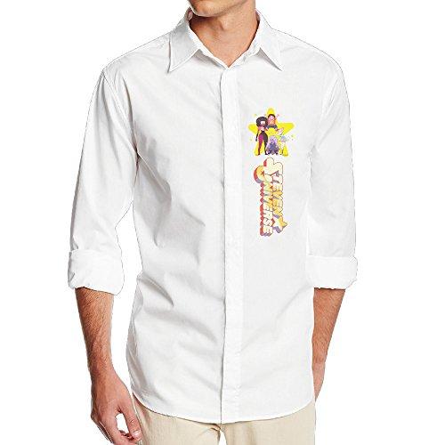 The Lost Boys David Costume (FUOALF Mens Steven Universe Long Sleeve Button Down Collar Dress Shirt)