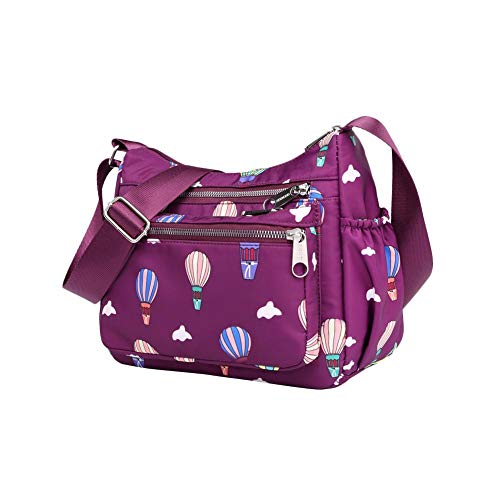 Mujer al Purple Hombro Bolso Balloon Comaie Dark Balloon Blue para waPq1CxICF