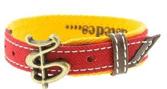 Armband, Taurin-Feder, TS – Rot, L (25 cm)