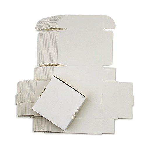 Ranggrgt 10Pcs Small Kraft Paper Gift Packaging Box,Kraft Handmade Soap Candy Box,Black White Personalized Craft Cardboard Box White 11x6x2.2cm