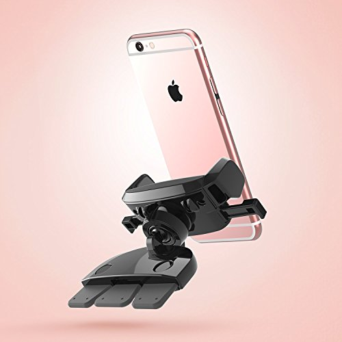 iOttie Easy One Touch Mini CD Slot Car Mount Holder Cradle for iPhone 7 7 Plus/ 6s Plus/6s/6, Samsung Galaxy S8 Edge S7 S6 Note 5, Nexus 6, & Smartphones