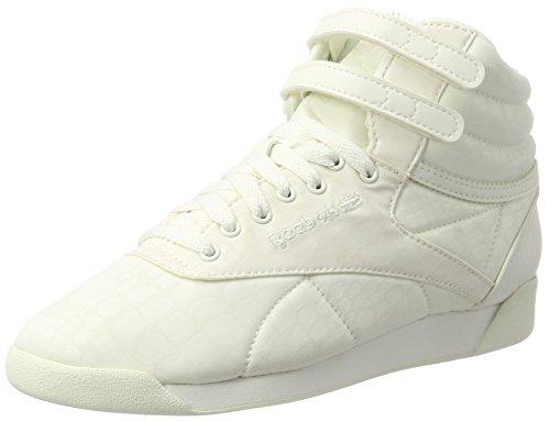 chalk Hautes Txt Reebok Hi Freestyle Femme Lux Blanc chalk Baskets 4Za8WB