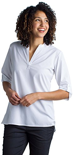 ExOfficio Women's Kizmet Casual 3/4 Sleeve Shirt, White, Medium