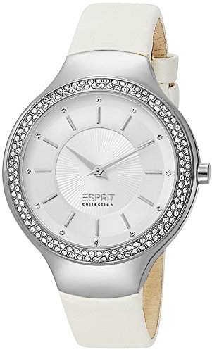 Esprit el101542f02 Stainless Steel Case White Leather Mineral Men's & Women's Watch
