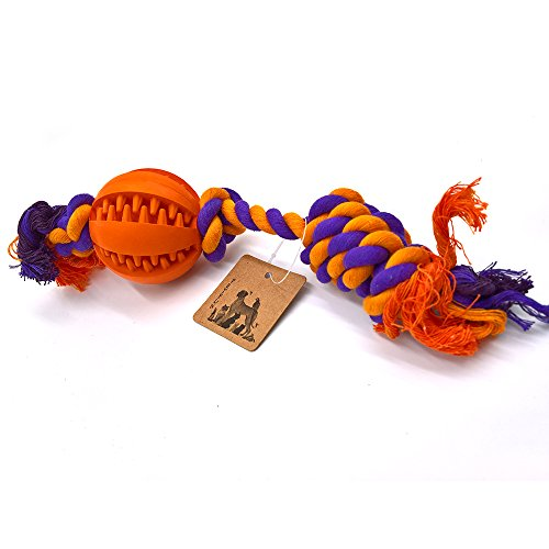 PetFun Pet's Indestructible Cotton Knotted Rope Ball Toy for Dog Chewing Game