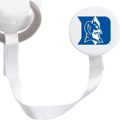 Duke Blue Devils White Pacifier Clip