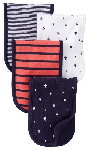 Carters Burp Cloth Red Navy