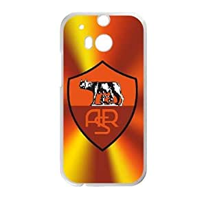 Plastic Case Erwddv HTC One M8 Cell Phone Case White As Roma Logo Generic Design Back Case Cover