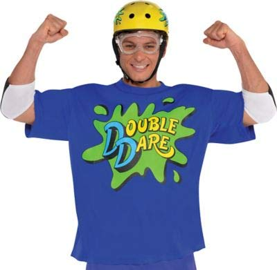 Amscan Nickelodeon Blue Double Dare Halloween Costume Accessory Kit for Adults, One -