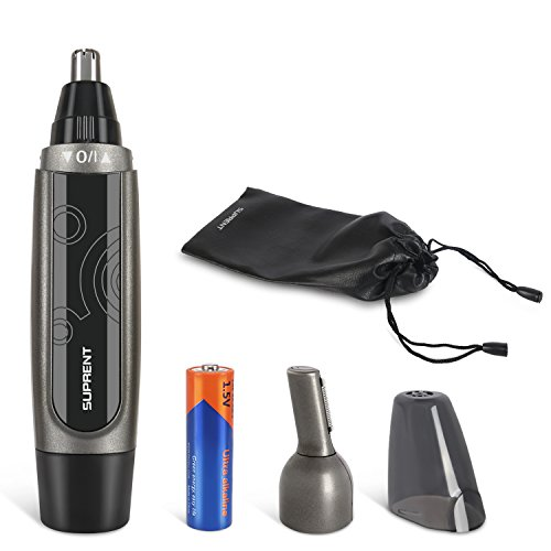 upgraded nose and ear hair trimmer wet