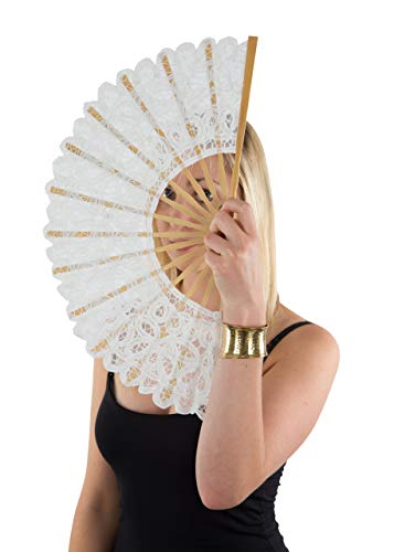 durable lace hand fan - 1