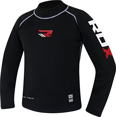 Cheap RDX Sauna Suit Neoprene MMA Compression Base Layer Rash Guard Thermal Shirt Top Sweatshirts