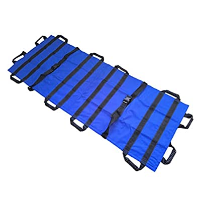 LIBWX Medical Soft Canvas Stretcher Aluminum Alloy Stainless Steel Emergency Patient Mover Portable Transport Unit Emergency Rescue for Hospital