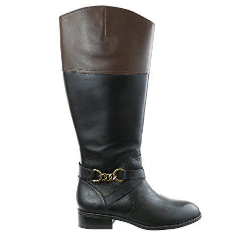 LAUREN Ralph Lauren Menna Riding Boot - Black/Dark Brown ...