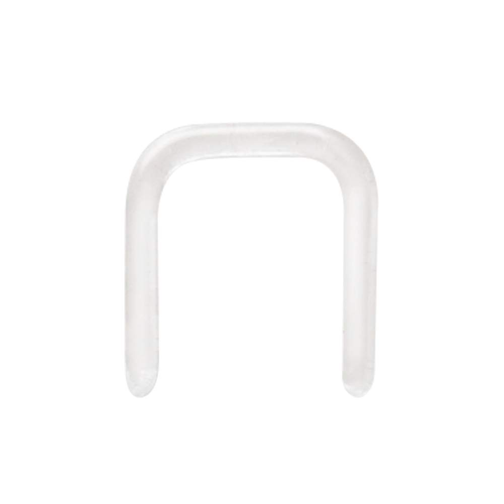 Covet Jewelry Clear Glass Septum Retainer (16GA) by Covet Jewelry