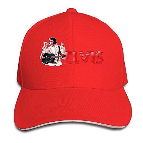 Hotgirl4 Adult King Elvis Presley Sandwich Bill Baseball Cap Red]()