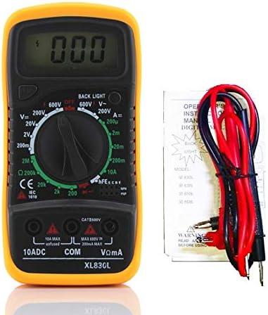 250V-Diodo//Splicer Test P-N//HFE. AC//DC Digital LCD Multimeter Voltmeter Resistance Current Ohm Tester Meter Fuse F-200mA