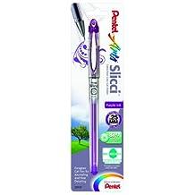 Pentel Arts Slicci Extra Fine Gel Pen, 0.25mm, Purple Ink, 1 Pack (BG202BPV)