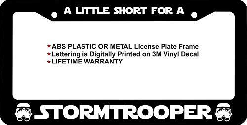 Stormtrooper Masks Aluminum Alloy Black License Plate Frame Cover 2 Hole 12