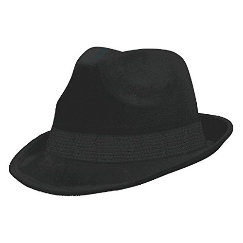 Amscan Velour Fedora, Party Accessory, Black ()