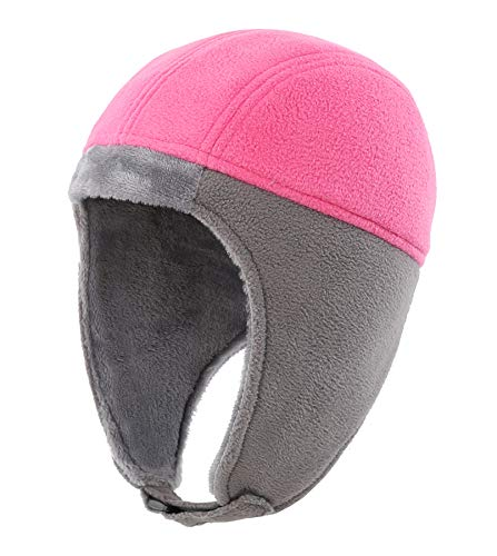 Home Prefer Toddler Winter Hats for Girls Skull Hat with Earflaps Cold Weather Hat Hot -