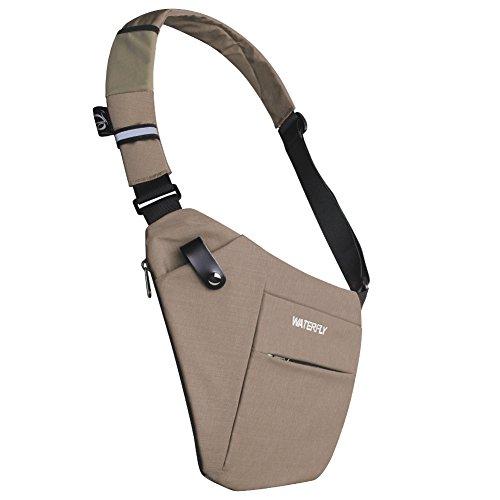 WATERFLY Sling Bag Lightweight Casual Daypack Chest Shoulder Bag for Men Boy