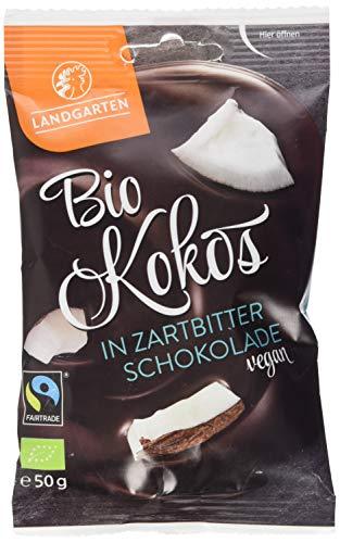 Landgarten Bio Kokos in Zartbitter-Schokolade, 50 g