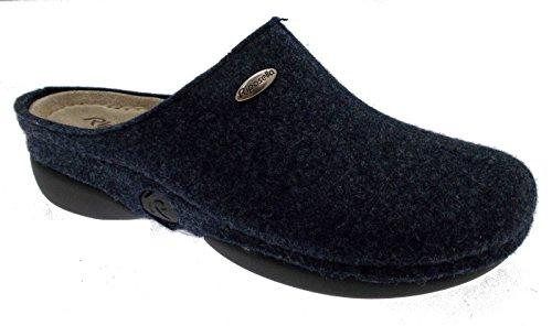 bleu chausson pied laine cuite feutre art en tissu 9201