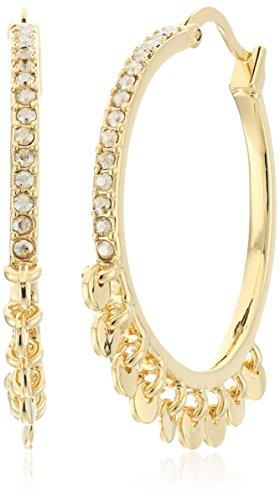 Diane von Furstenberg ''Summer Disco'' Swarovski Stone Shaky Circle Hoop Earrings by Diane von Furstenberg
