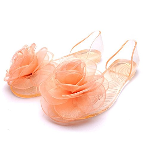 f55f054f01929 OMGard Women Summer Jelly Rose Flip Flops Thong Flat Sandals Shoes free  shipping