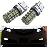 iJDMTOY 60-SMD 3157 3357 3457 4157 4357 Switchback LED Bulbs For Front Turn Signal + Free Load Resistor Combo Deal