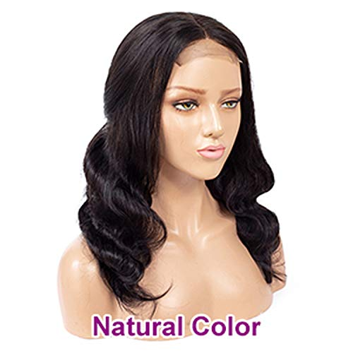 SHILINWEI 4x4 Lace Closure Wig Ombre Human Hair Wig For Black Women Brown Remy Brazilian Body Wave Blonde Lace Front Wigs,Natural Color,20inches,150%