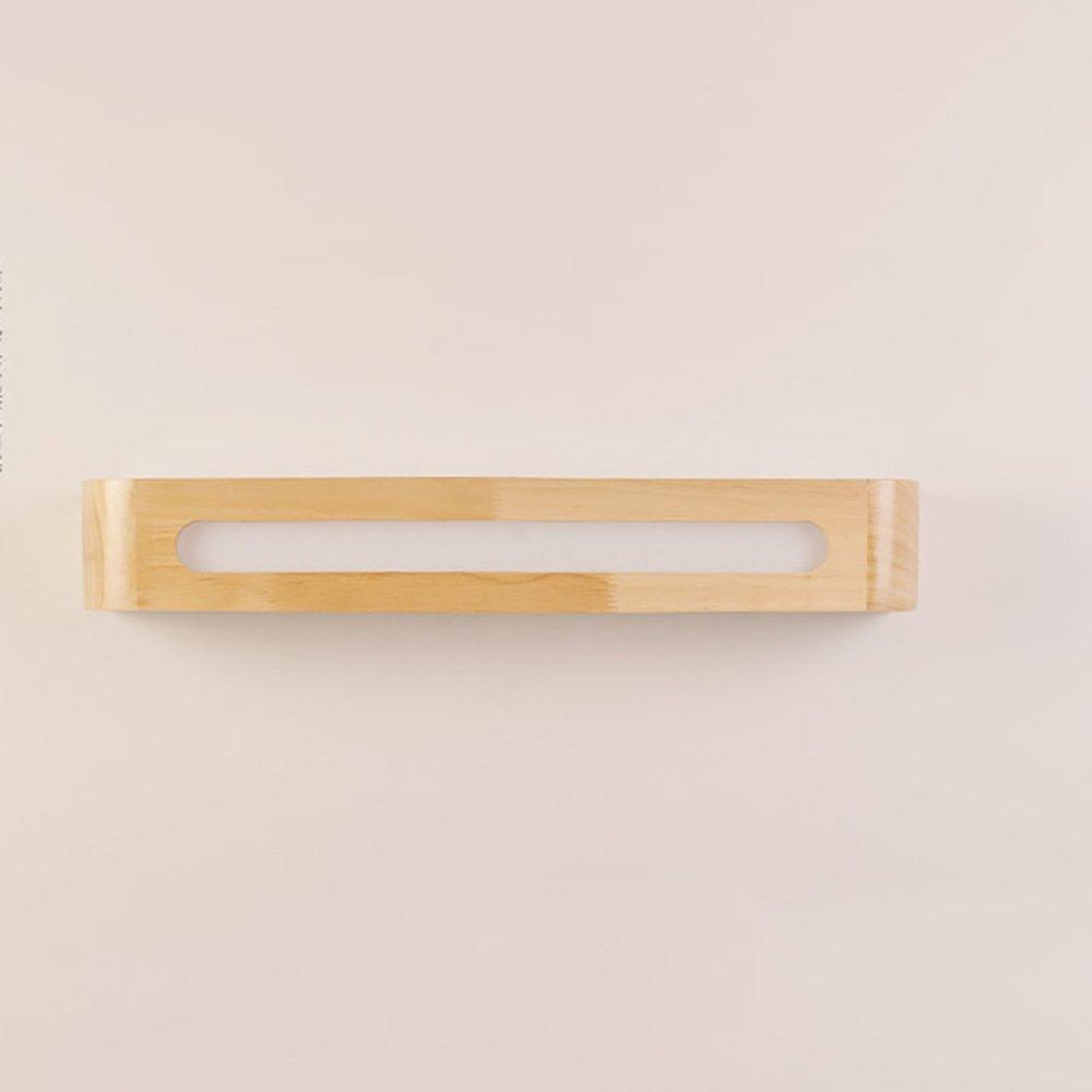 LJHA jingqiandeng ソリッドウッドLEDモダンミラーフロントライトベッドルームウォールランプベッドサイドランプドレッシングテーブルミラーキャビネットライト (色 : 暖かい光, サイズ さいず : 40cm-6W) B07M8VF3RY 30cm-3W|白色光 白色光 30cm-3W