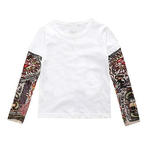 Tabpole Kids Peuter Jongens T-Shirt Lange Mouw Tattoo Print Trui Top Shirt