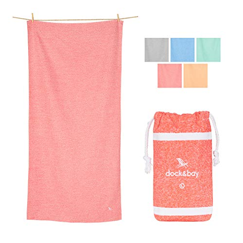 Dock & Bay Microfibre Mat Towel for Yoga - Volcanic Red, 63 x 31 - Fitness, Shower & Travel - Soft Towel, Absorbent, Compact