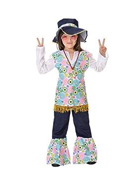 DISBACANAL Disfraz Hippie niña - Único, 6 años: Amazon.es ...