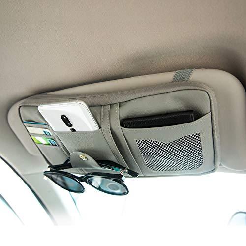 Da by car Visor Organizer,Visor Organizer, Multiple Pockets car Organizer,Auto Interior Accessories,Gray