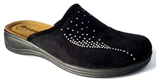 Inblu pantofole ciabatte invernali da donna art. RA-61 NERO