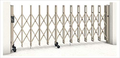 三協アルミ クロスゲートM 2クロスタイプ 標準 両開きタイプ 78W(39S+39M)H12(1210mm) ガイドレールタイプ(後付け) 『カーゲート 伸縮門扉』 ホワイト