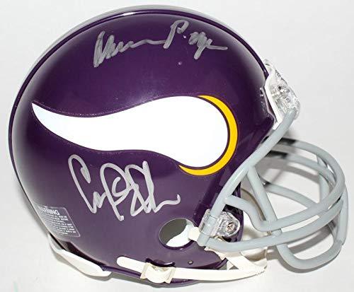 (Purple People Eaters Vikings Football Autographed Mini-Helmet (Alan Page, Carl Eller, Jim Marshall, and Gary)