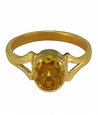 Buy Cultured YELLOW SAPPHIRE PUKHRAJ Gemstone Finger Ring PANCH
