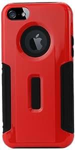 Reiko slcpc22 - iPhone 5SBKRD carcasa híbrida para iPhone 5S - negro/rojo