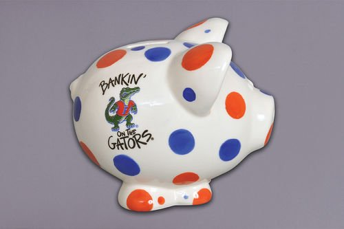 Florida Bank (Ceramic Collegiate Piggy Bank Florida Gators by Magnolia Lane)