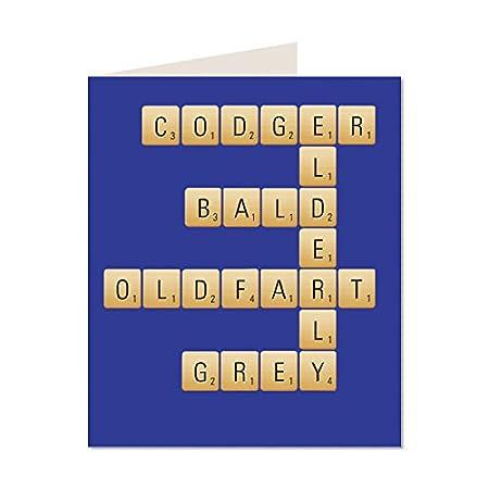 Feliz cumpleaños al diseño moderno brillante Scrabble de ...