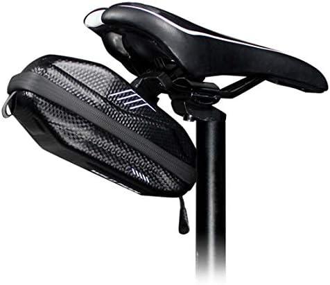 サドルシート自転車サドルバッグロードMTB耐震サイクリングポケットアクセサリーの下に防水EVAハードシェル0.8Lバイクバッグ