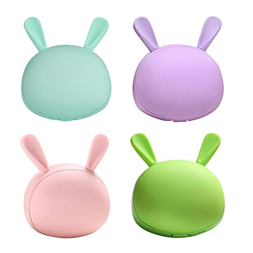 WDDH 1500mAh Creative Hand Warmer Rabbit Shaped Cosmetic Mirror Multifunctional USB Portable Heater (Pink)