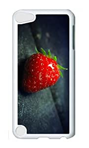 Ipod 5 Case,MOKSHOP Awesome Red Strawberry Hard Case Protective Shell Cell Phone Cover For Ipod 5 - PC White