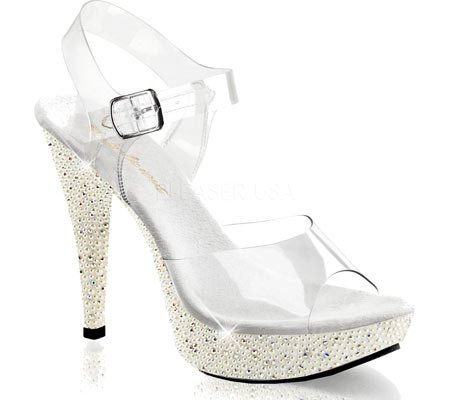 Strap Sandals Clear Women's Cocktail Ivory Ankle 508PRL Fabulicious Yx7qXwvIY