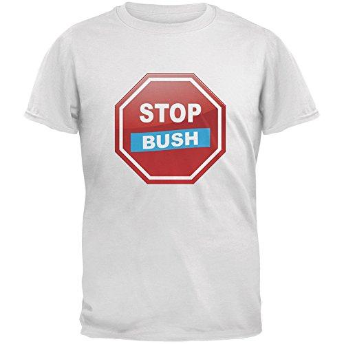 Election 2016 Stop Bush White Adult T-Shirt - X-Large (Stop Bush T-shirt)